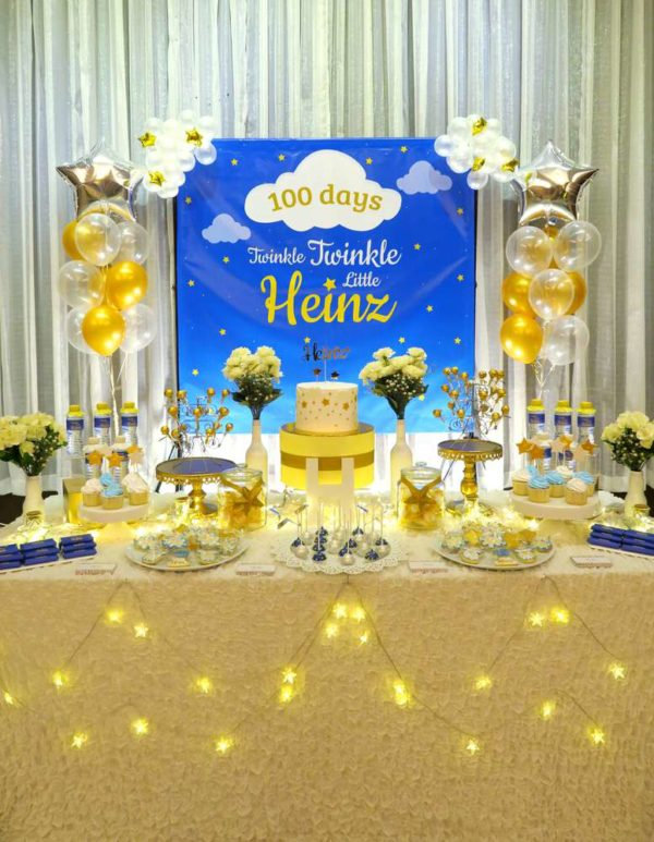 Twinkle Twinkle Little Star Golden Baby Shower Baby