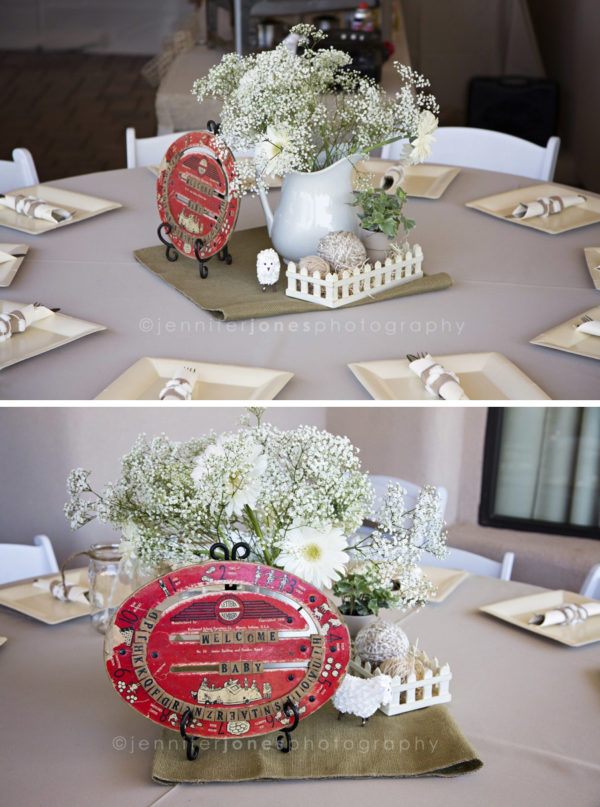 vintage-lamb-baby-shower-welcome-centerpiece