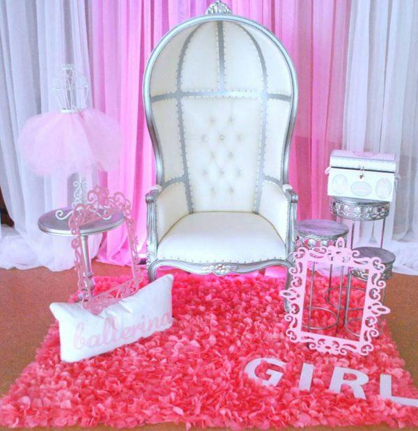 Beautiful ballerina baby shower baby shower ideas for Ballerina decoration ideas