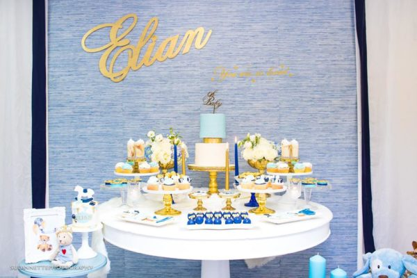 chic-blue-baby-shower-dessert-table