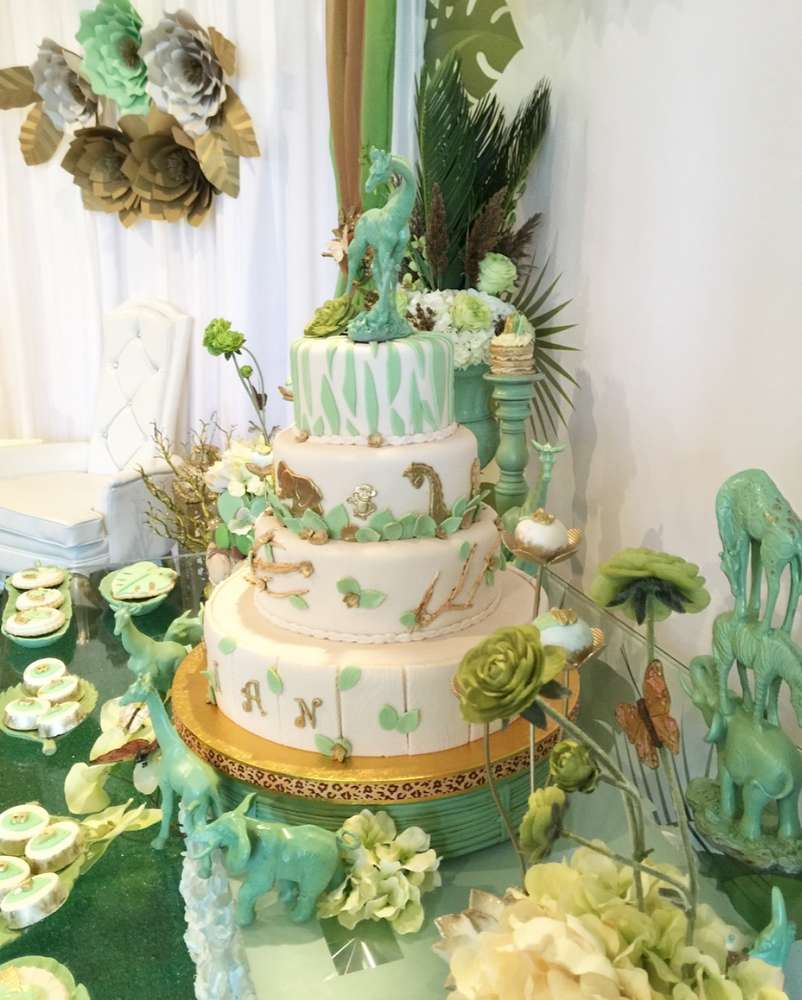 mint-green-jungle-baby-shower-animal-tower