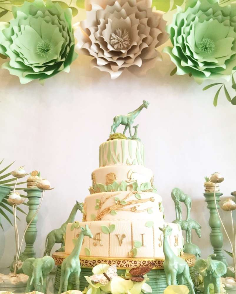 Mint Green Jungle Baby Shower Baby Shower Ideas Themes Games
