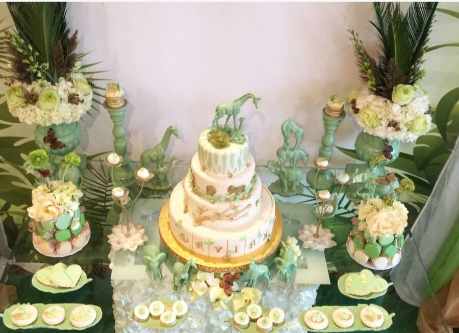 mint-green-jungle-baby-shower-dessert-table