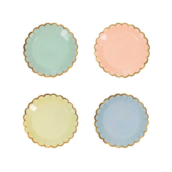 pastel-canape-plates-small-paper-plate-gold-edge-pastel-party-plate