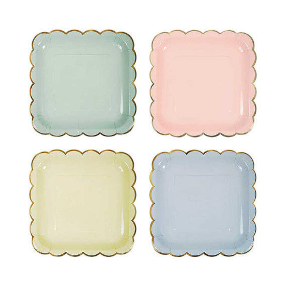 pastel-large-paper-plates-party-shower-plates-gold-trim