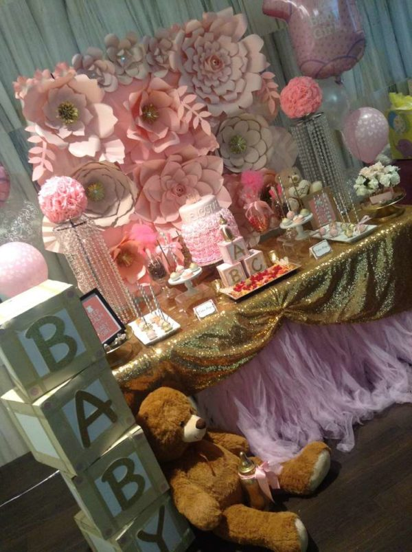 pretty-pink-and-gold-baby-shower-sweet-station