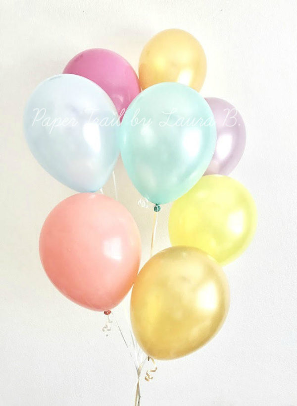 rainbow-pastel-balloon-bouquet-shiny