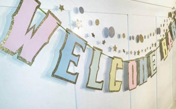 welcome-baby-banner-baby-shower-pastel-banner-unknown-gender-glitter