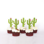cactus-fiesta-party-cupcake-toppers-party-decorations-cacti-tropical-theme-lime-pink-glitter