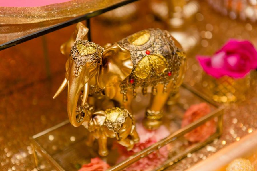 colorful-moroccon-baby-shower-gold-elephants