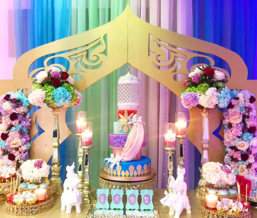 floral-moroccan-princess-baby-shower-arch-backdrop