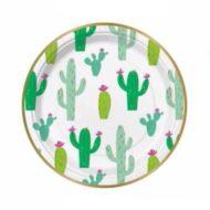 gold-foil-cactus-round-cake-plates