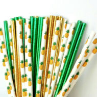 gold-pineapple-paper-straws-tropical-baby-shower-supplies