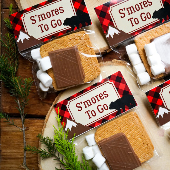 Little Lumberjack Party Treat Bag Toppers Baby Shower Ideas