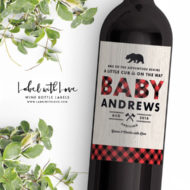 lumberjack-buffalo-placid-baby-announcement-wine-labels