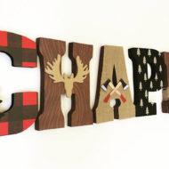 lumberjack-wooden-baby-shower-sign