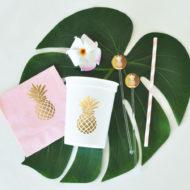 metallic-gold-pineapple-napkins