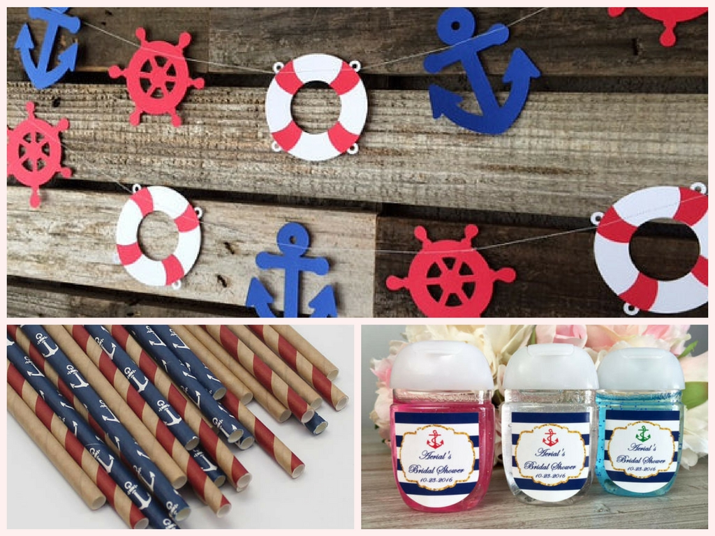 Baby Shower Favors Nautical Theme ~ Nautical baby shower decorations and party favors