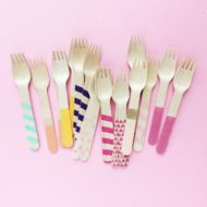 wooden-forks-colorful-fiesta-party-shower-tableware-supply