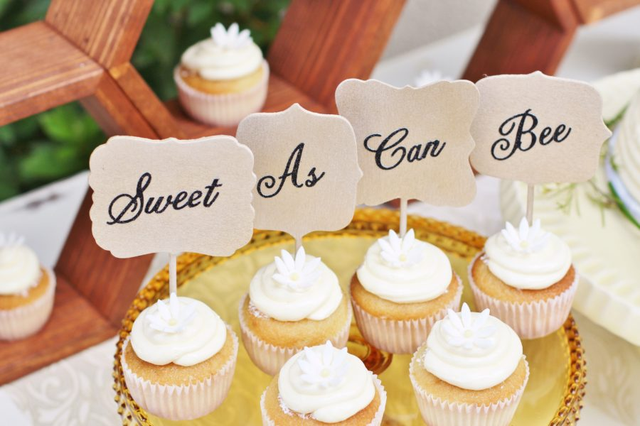 baby-to-bee-outdoor-shower-cupcakes