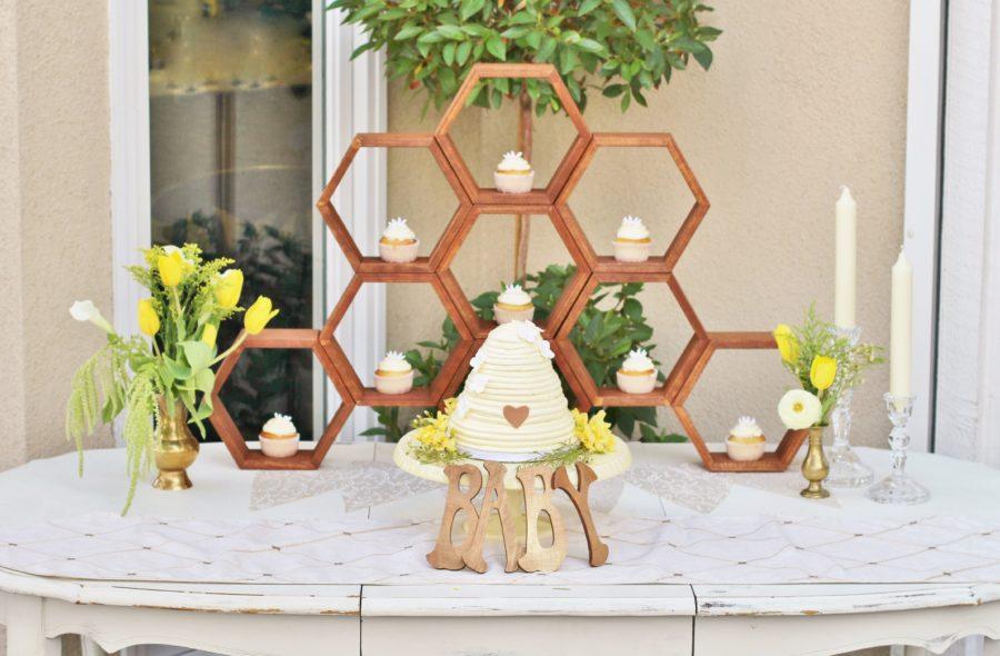 baby-to-bee-outdoor-shower-dessert-table