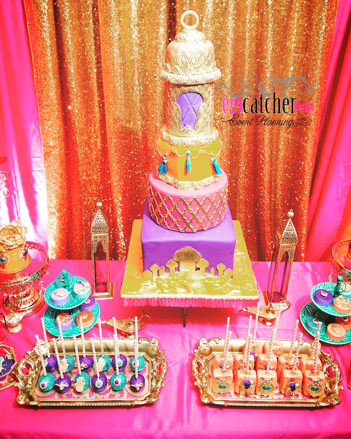 Beautiful Marvelous Moroccan Baby Shower Cake