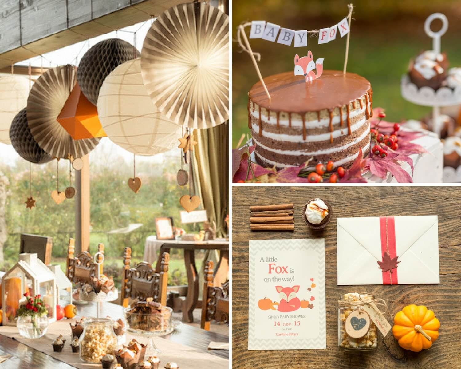Little fox fall baby shower ideas themes