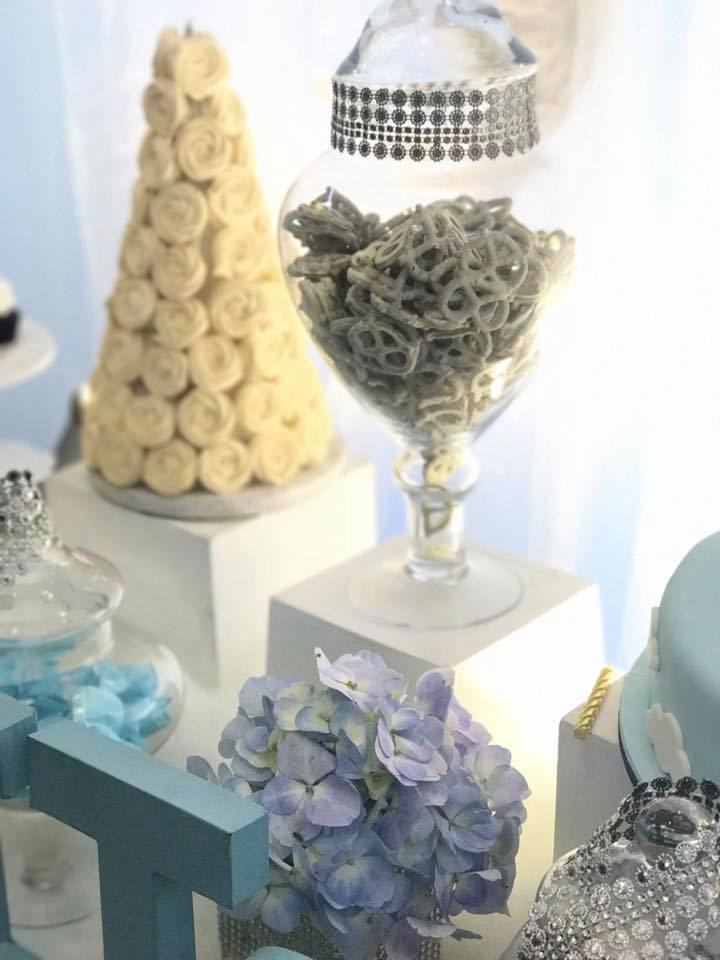 sky blue baby shower - baby shower ideas - themes