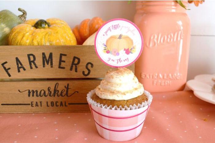 sweet-little-pumpkin-baby-shower-cupcake