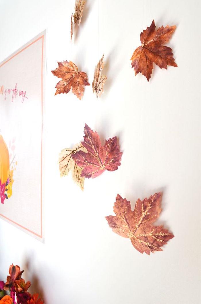 sweet-little-pumpkin-baby-shower-leaves-backdrop