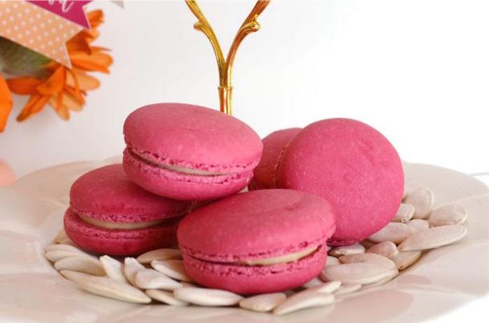 sweet-little-pumpkin-baby-shower-pink-macarons