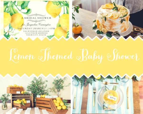 Lemon Yellow Baby Shower Decorations And Party Favors Baby Shower