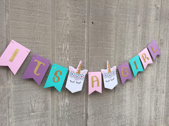 Unicorn Themed Baby Shower Party Favors And Decorations Baby
