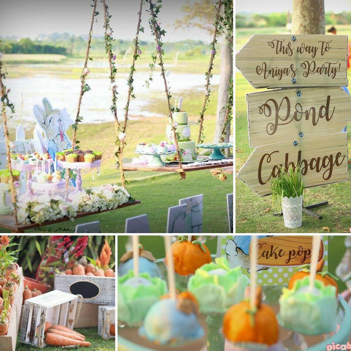 Elegant Peter Rabbit Garden Party Baby Shower Ideas