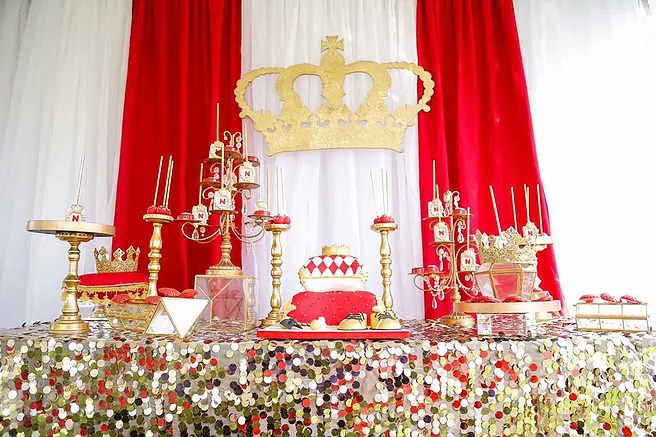 Red And Gold Royal Affair Baby Shower Baby Shower Ideas