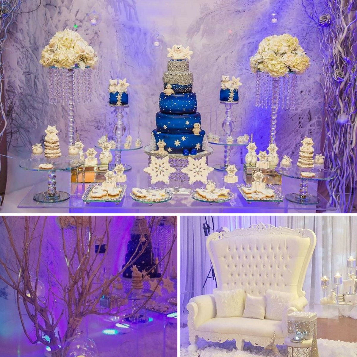 Winter wonderland baby shower ideas themes