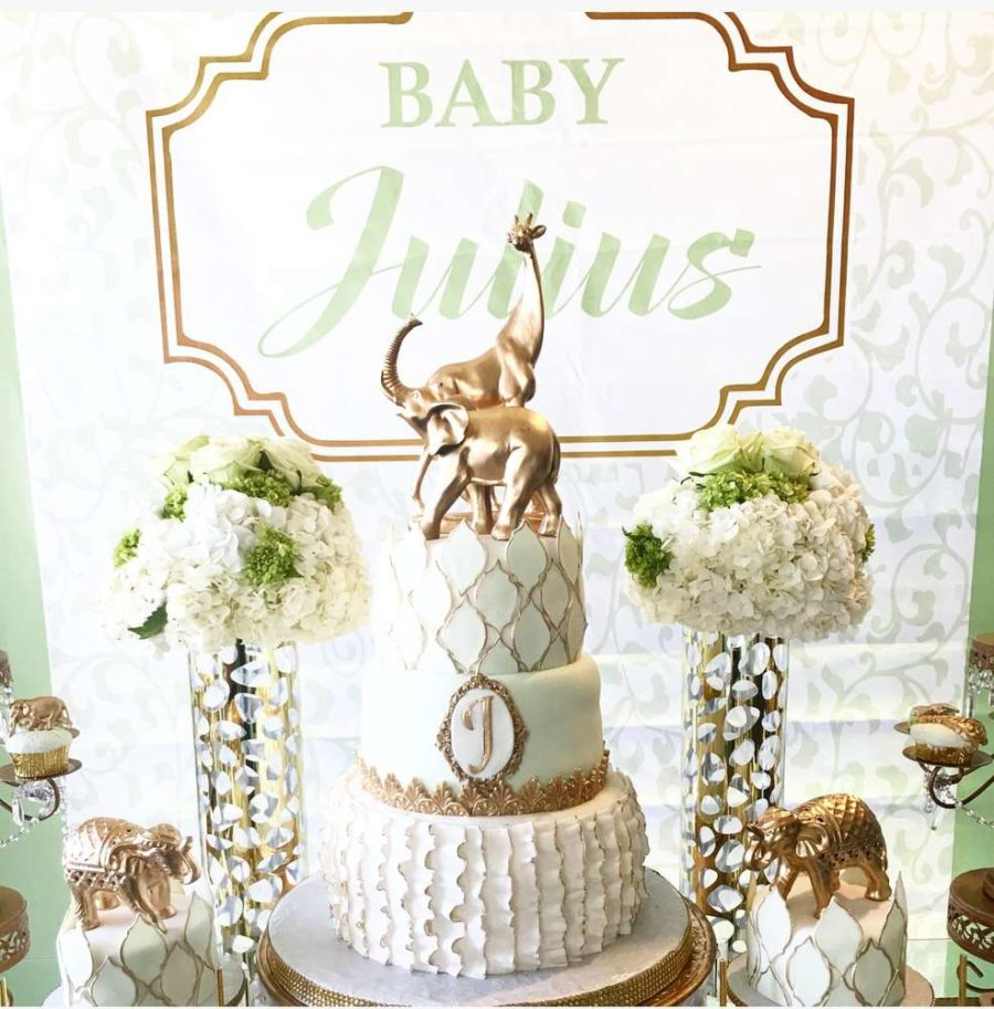 golden glam safari baby shower - baby shower ideas - themes