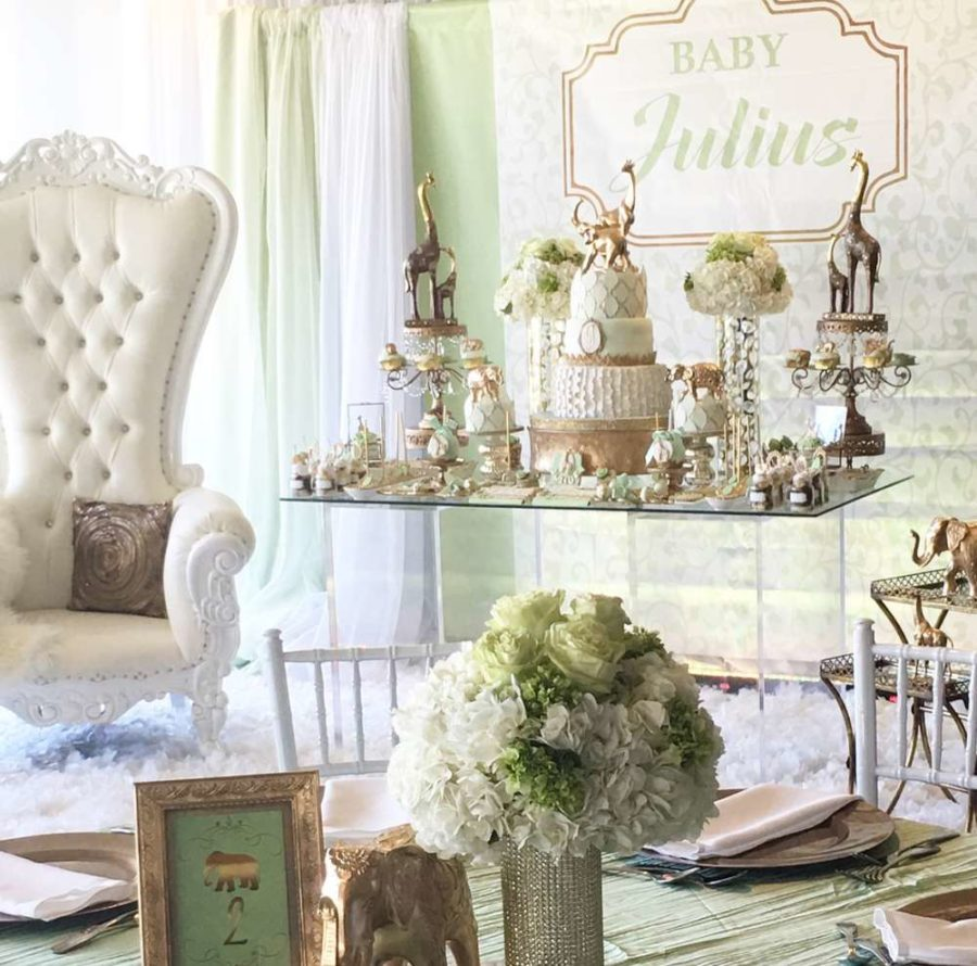 Golden Glam Safari Baby Shower - Baby Shower Ideas - Themes - Games