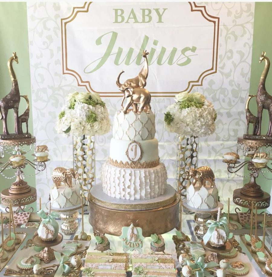 Golden Glam Safari Baby Shower