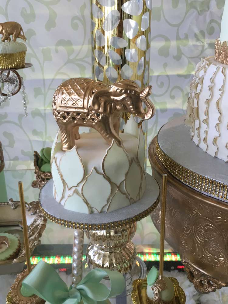 Golden Glam Safari Baby Shower Baby Shower Ideas