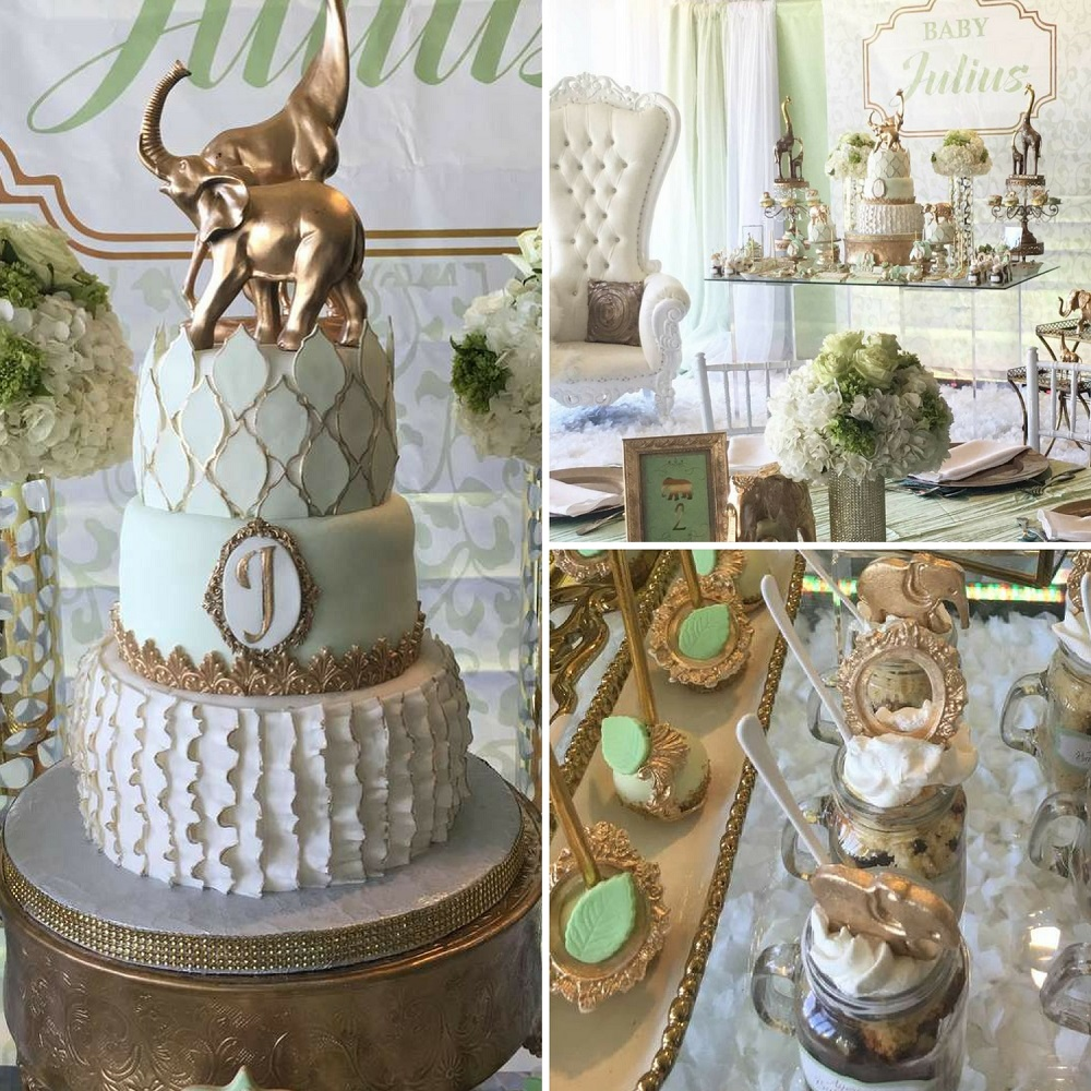 Golden Glam Safari Baby Shower - Baby Shower Ideas ...