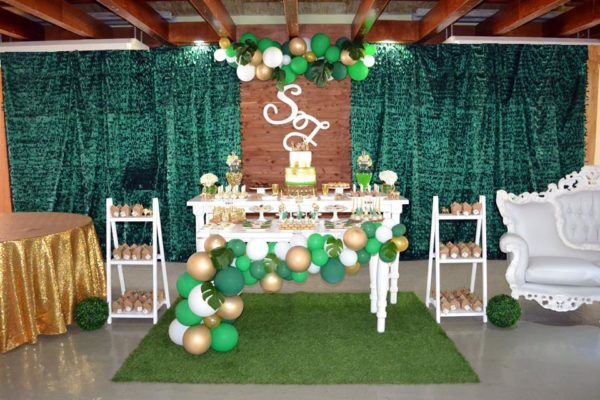 Gold And Hunter Green Safari Baby Shower Baby Shower