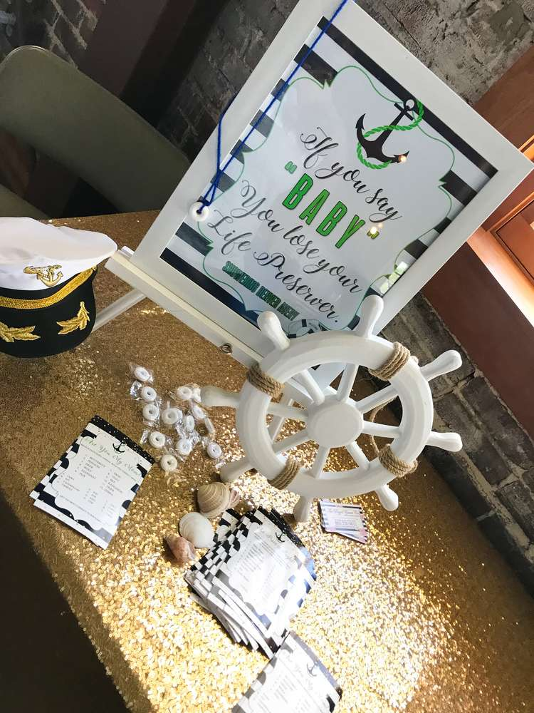 Modern Chic Nautical Shower Baby Shower Ideas Themes