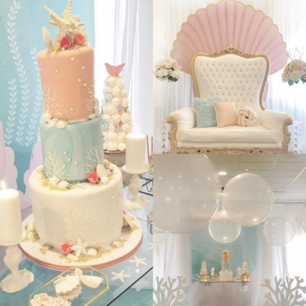 Baby Shower Cake With Shells Boy