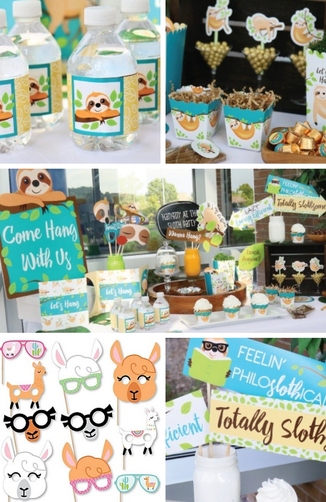 Sloth Baby Shower Ideas Baby Shower Ideas Themes Games