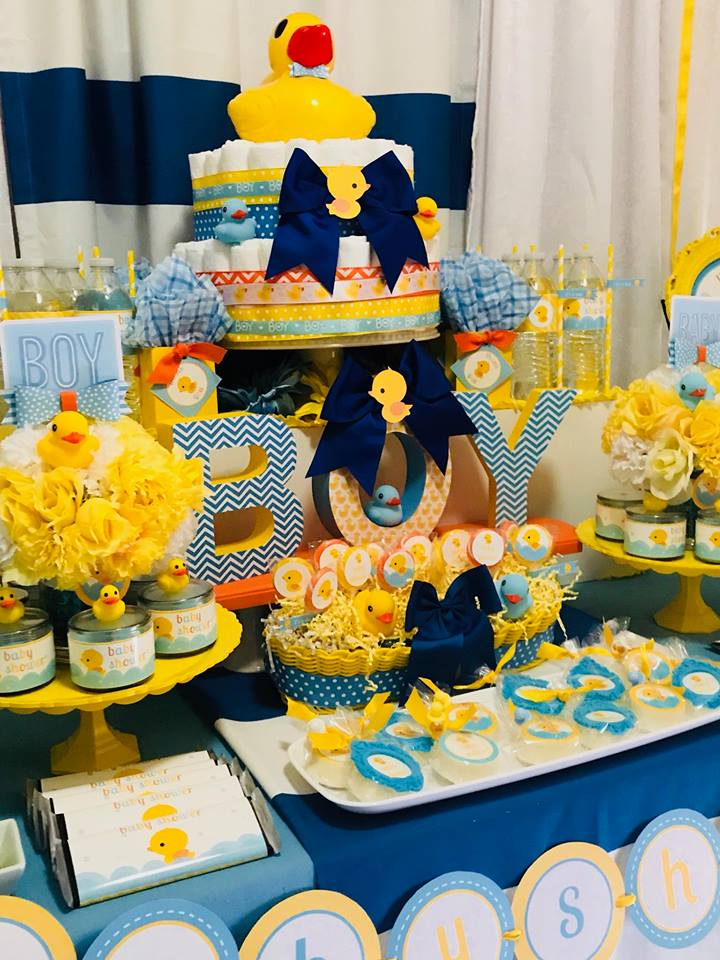 Blue And Yellow Rubber Ducky Baby Shower Baby Shower