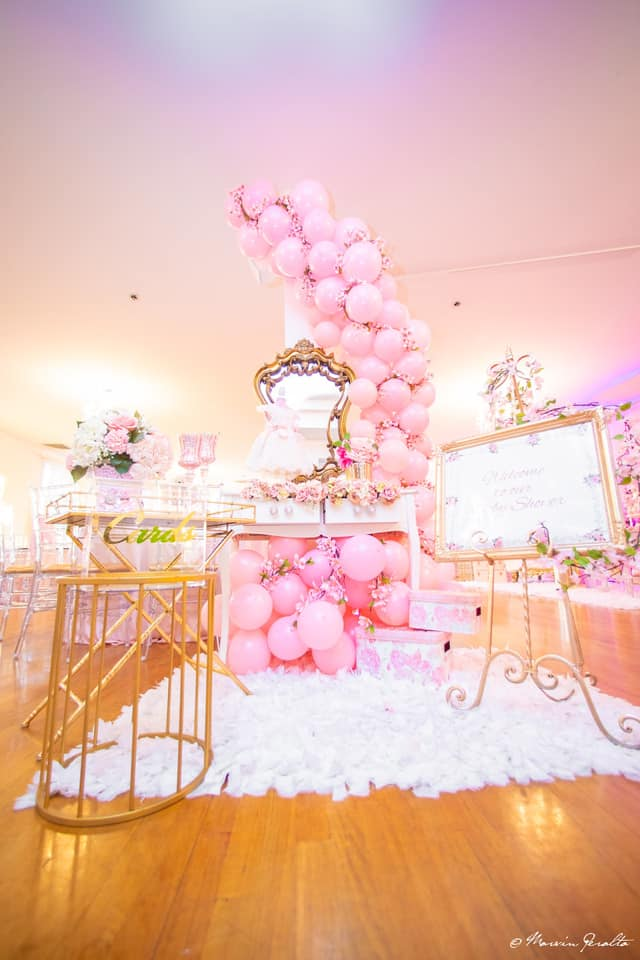 Beautiful Pink And Gold Baby Shower Baby Shower Ideas