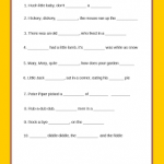 FREE Printable Baby Nursery Rhyme Game