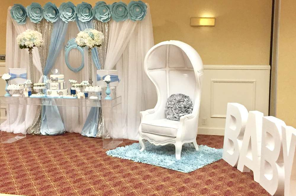 Preferred blue-and-white-elephant-themed-baby-shower-giant-letters - Baby  IU19