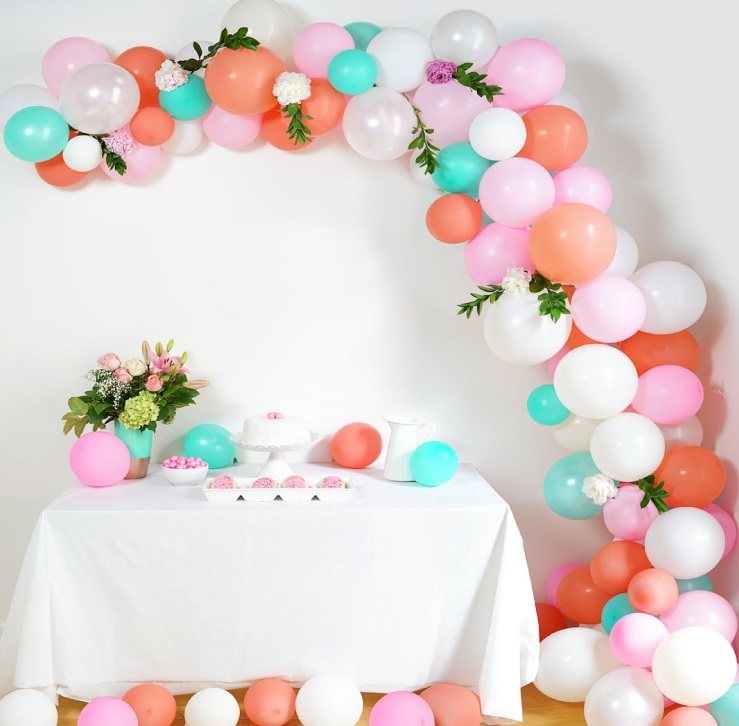Diy Balloon Arch Decoration Baby Shower Ideas Themes